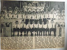 50 years ago: Children celebrate First Communion