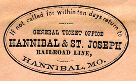 'Golden Spike' linked East to West on Feb. 13, 1859, along Hannibal & St. Joseph Railroad line