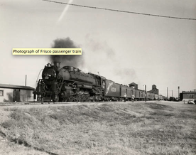 Photo of Frisco passenger train at Claremore, OKLA.