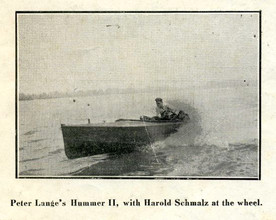 Speed boat driver operated boat livery service at foot of Hannibal's Bird Street