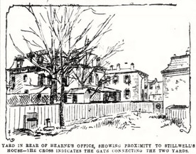 Stillwell murder, 1888: Hearne's office, Stillwell house in close proximity
