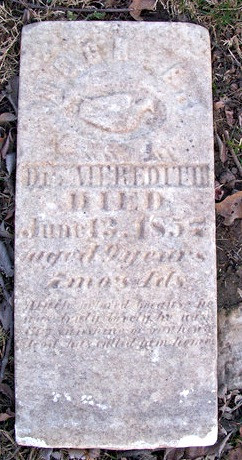 1857: 'Interesting' son of Dr. H. Meredith