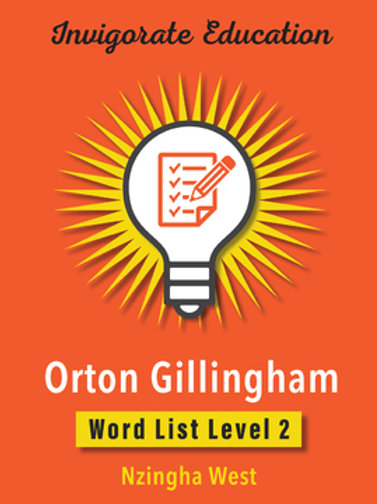Invigorate Education Orton-Gillingham Word List Book Level 2