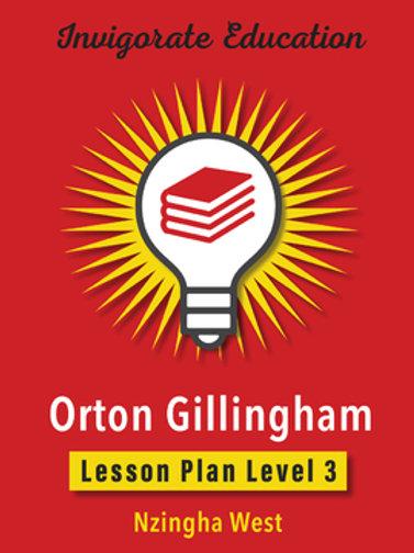 Invigorate Education Orton-Gillingham Lesson Plan Book Level 3