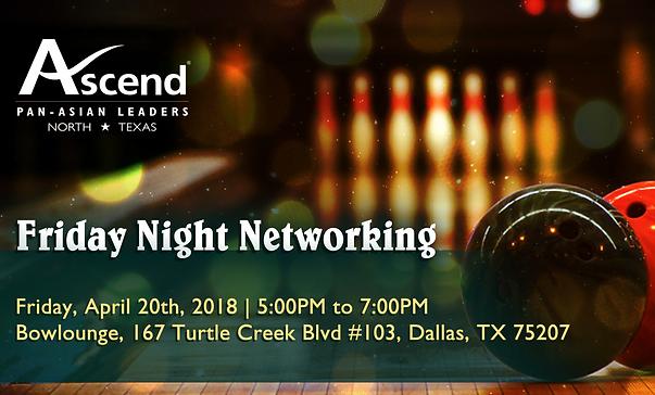 NTX Fri Night Networking Bowling Banner.
