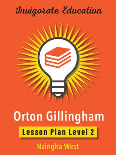 Invigorate Education Orton-Gillingham Lesson Plan Book Level 2