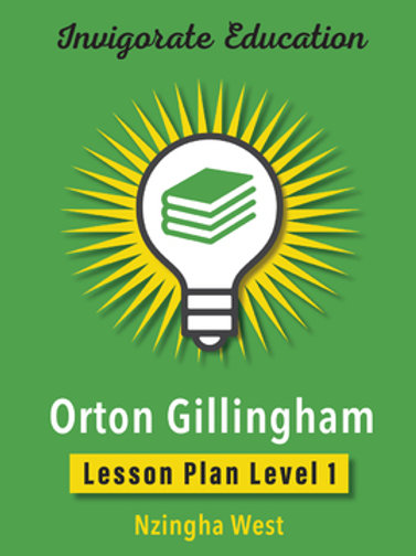 Invigorate Education Orton-Gillingham Lesson Plan Book Level 1