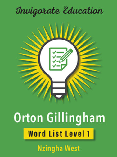 Invigorate Education Orton-Gillingham Word List Book Level 1