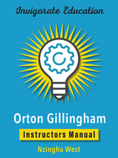 Invigorate Education Orton Gillingham Instructors Manual
