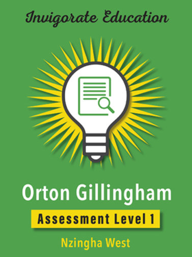Invigorate Education Orton-Gillingham Assessment Book Level 1