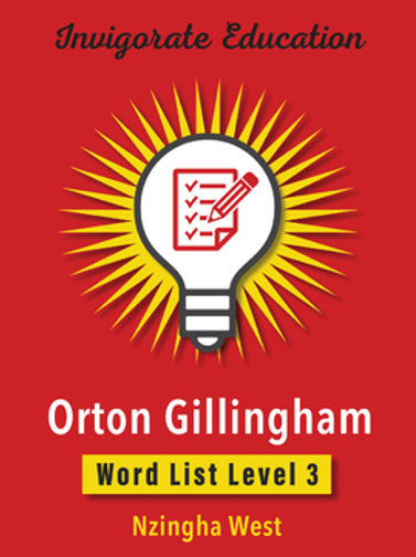 Invigorate Education Orton-Gillingham Word List Book Level 3