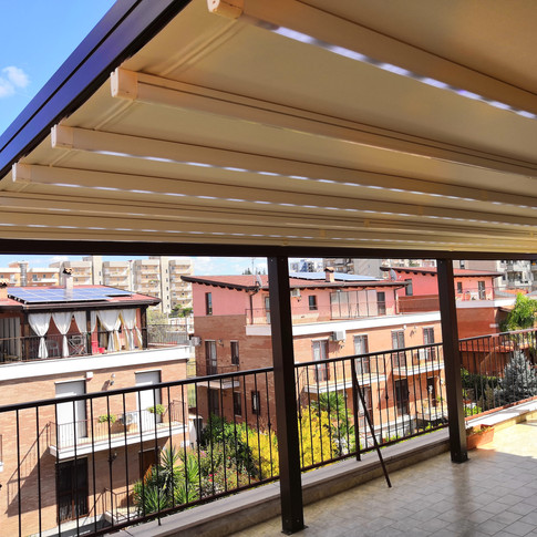 Pergola Apollo con impianto LED