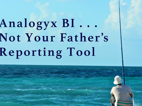 Analogyx BI . . . Not Your Father's Reporting Tool
