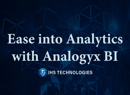 Ease into Analytics with Analogyx BI: Taking the Cost and Complexity Out of Analytics