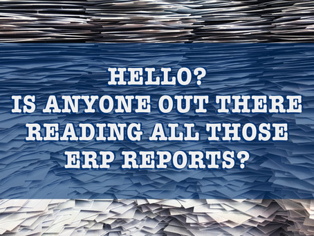Hello? Is Anybody Out There Reading All Those ERP Reports?