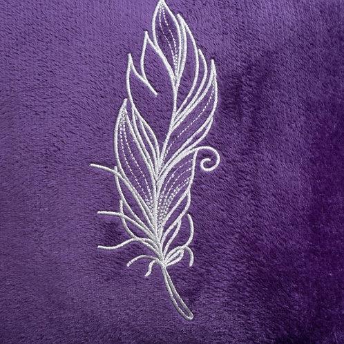 Наволочка Перо, фиолетовая
