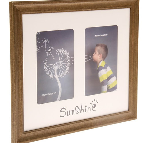 """Фоторамка на 2 фото """"Солнце"""""""