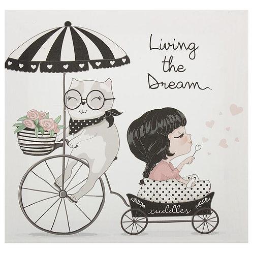 """Живи мечтой"", картина на холсте 30х30 см"