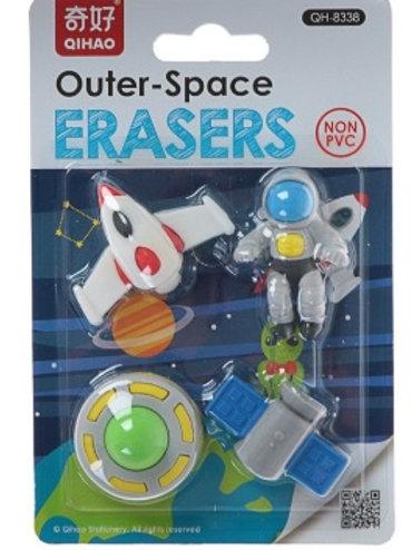 Набор ластиков фигурных 4 штуки Космос