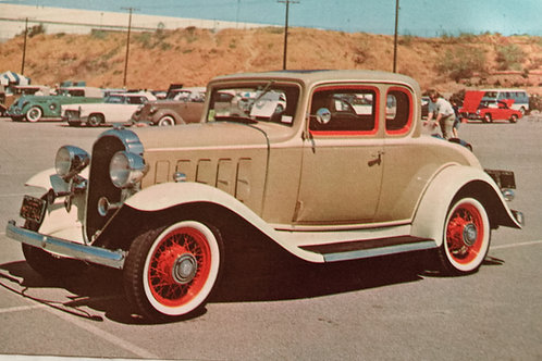 Covina 1932 Buick Coupe Vintage Postcard