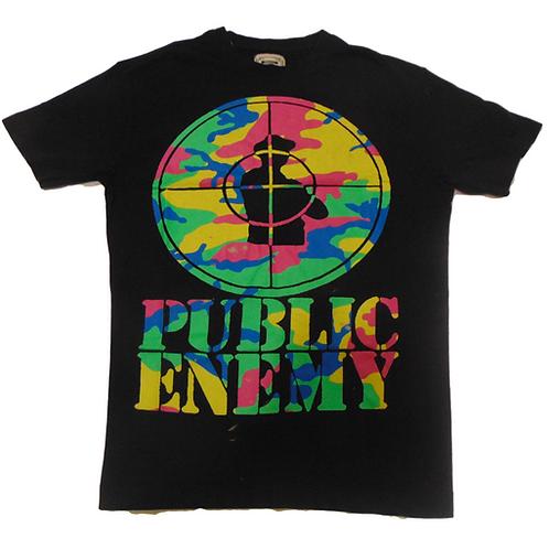 Vintage 90s Public Enemy Rainbow Camo Shirt