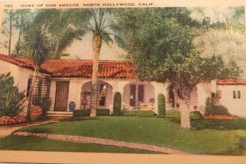 Don Ameche North Hollywood Residence Vintage Postcard