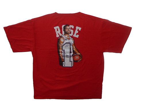 D Rose Majestic Chicago Bulls Shirt