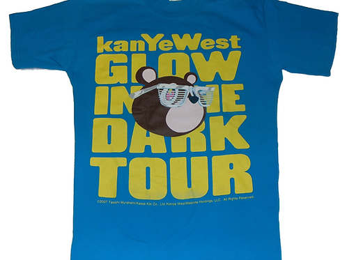 Vintage Kanye West 2007 Glow in the Dark Tour Shirt