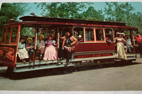 Vintage 1950s  Knott's Berry Farm Cable Cars Postcard