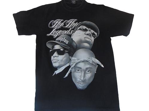 Vintage 90s Hip Hop Legends Shirt w/ 2Pac, Eazy-E and Biggie (RIP)