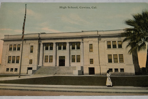 Covina High School Vintage Postcard