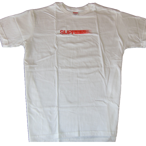 Supreme SS20 Motion Logo White Shirt