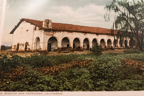 San Fernando Mission Vintage Postcard