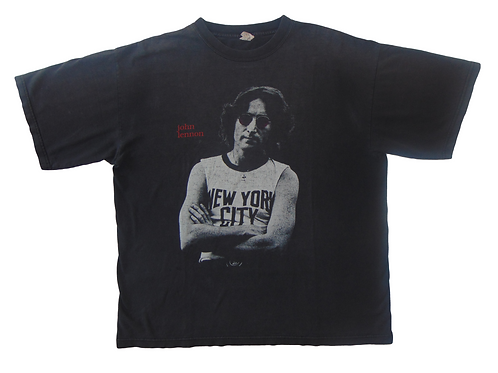 Vintage 90s John Lennon NYC Imagine Memorial Shirt