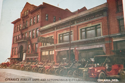 Vintage 1908 Postcard of Deright Automobile and