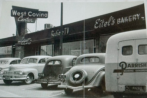 Real Vintage Photo of West Covina Shopping Center