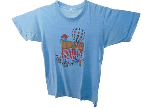 Vintage 70s Omaha OPPD Family Picnic Shirt