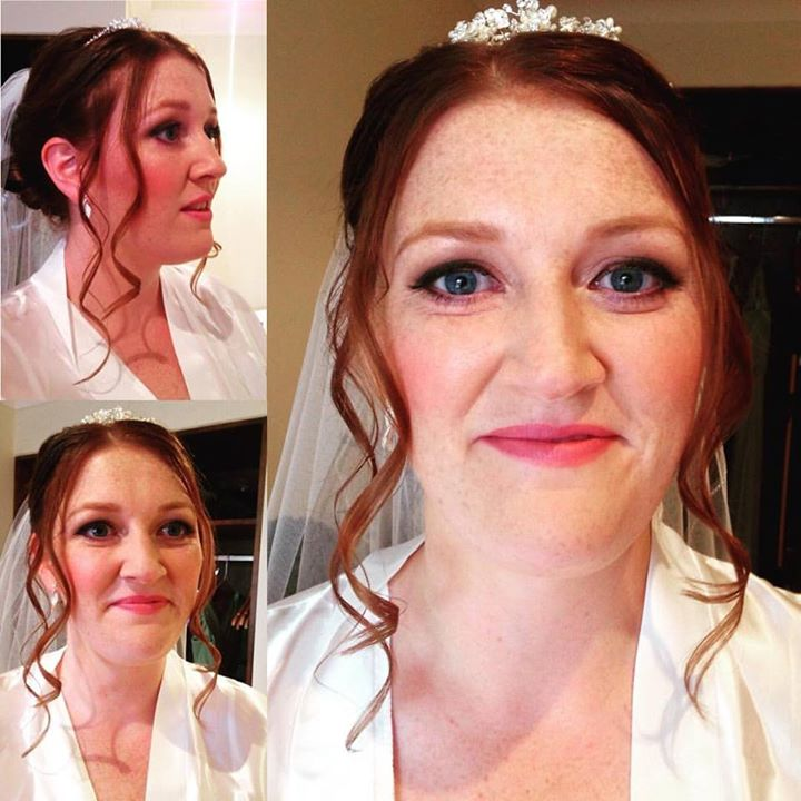 Today's beautiful bride Nicola #JustLovely #sheffieldmua #sheffieldmakeupartist #instabeauty #makeup