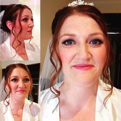 Today's beautiful bride Nicola #JustLovely #sheffieldmua #sheffieldmakeupartist #instabeauty #makeup