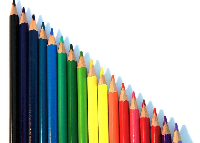 Crayons de couleur verticale