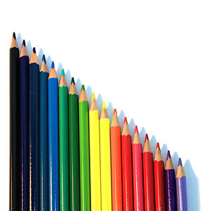 Vertical Colored Pencils