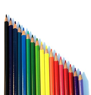 垂直方向の色鉛筆