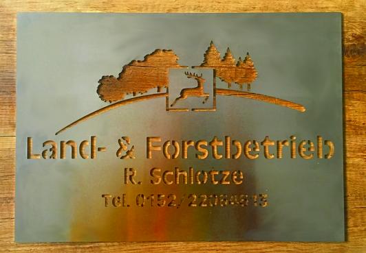 Schild Land-& Forstbetrieb