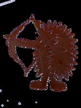 Igel mit Bogen Bogenschützenverein