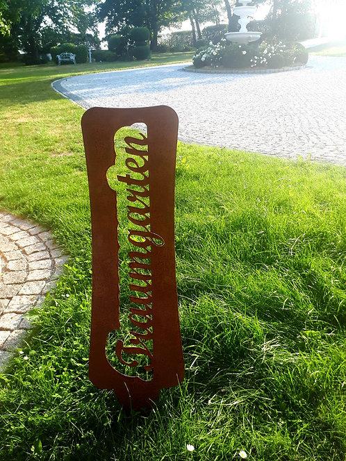 Schild Traumgarten
