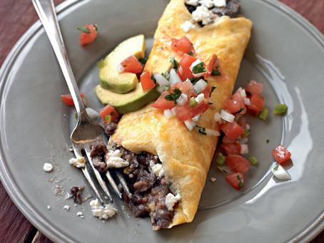 High protein black bean Omelette
