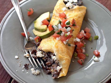 High protein black bean Omelette