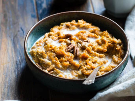 Amazing vegan pumpkin protein porridge