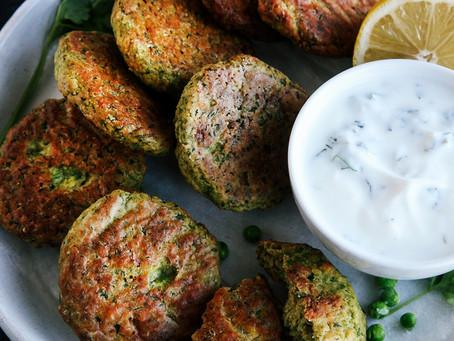 Quick recipes - Vegan green pea falafel balls