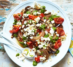 Keto slow cooked aubergines with feta